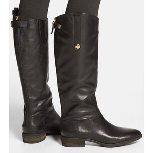 Sam Edelman Penny Boot in Black Leather
